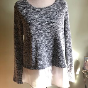 Calvin Klein Spotted Knit Layered Pullover Sweater